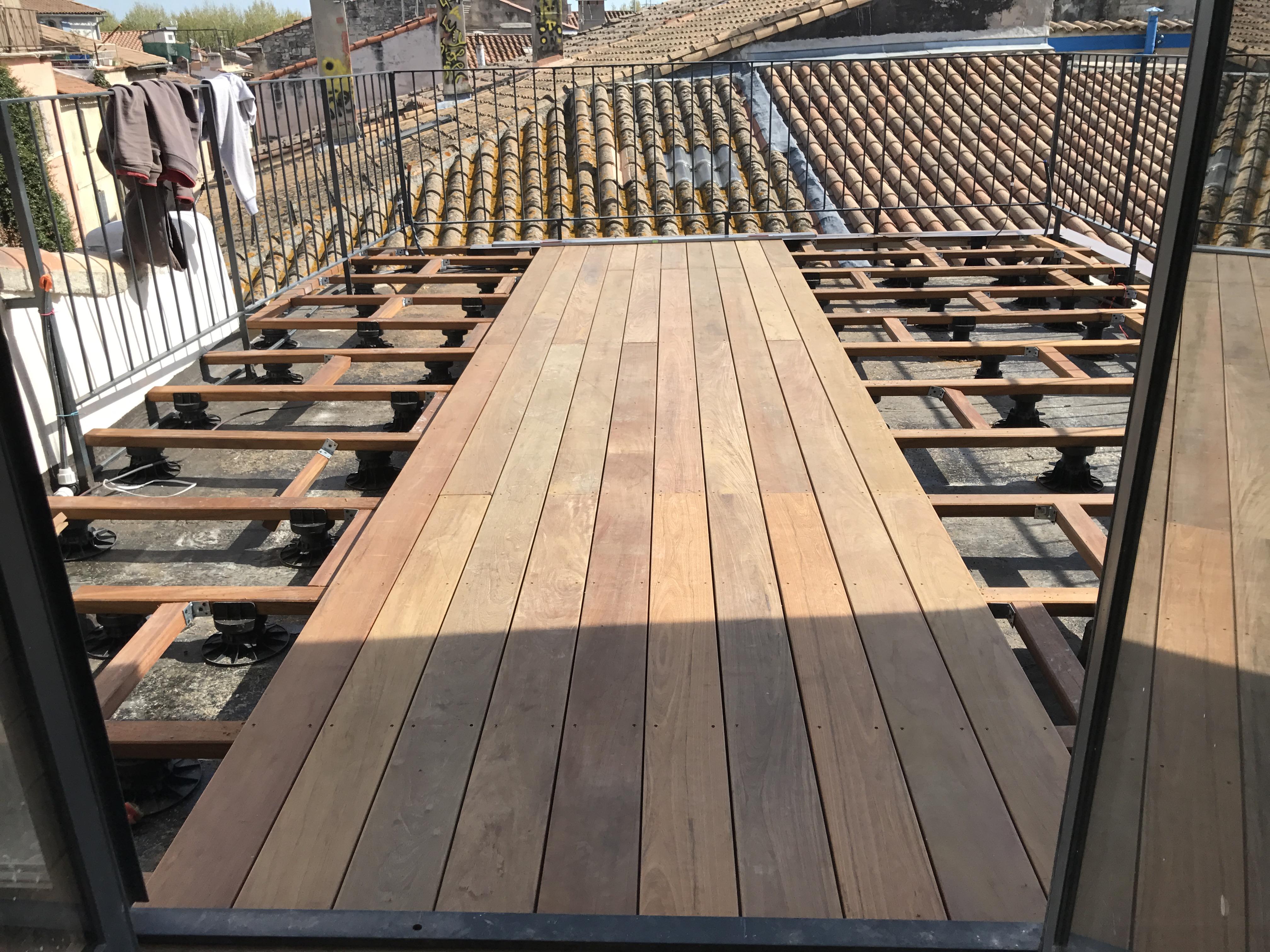 terrasse accessible en lames de bois ipe barale tanch it. Black Bedroom Furniture Sets. Home Design Ideas